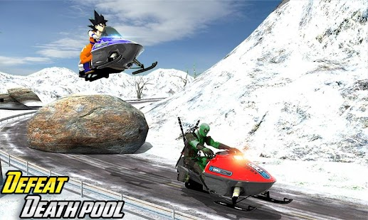 Goku Sledge Racing Mountain Slide: Winter Sport