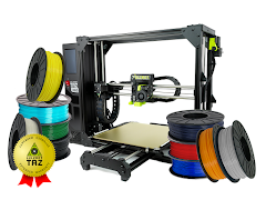 LulzBot TAZ Pro S 3D Printer Professional Bundle with 1 Year Extended Warranty