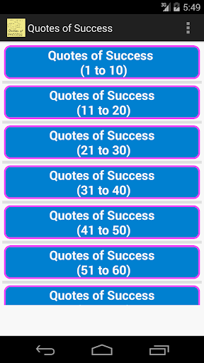 Quotes of Success