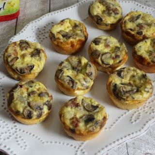 Mini Pancetta Mushroom Quiche