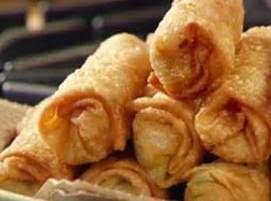 Shrimp Spring Rolls And Doily Recipe