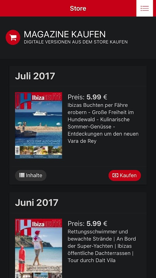 IbizaHEUTE – Screenshot