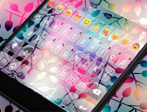 玩免費遊戲APP|下載Neon Leaves Eva Keyboard -Gifs app不用錢|硬是要APP