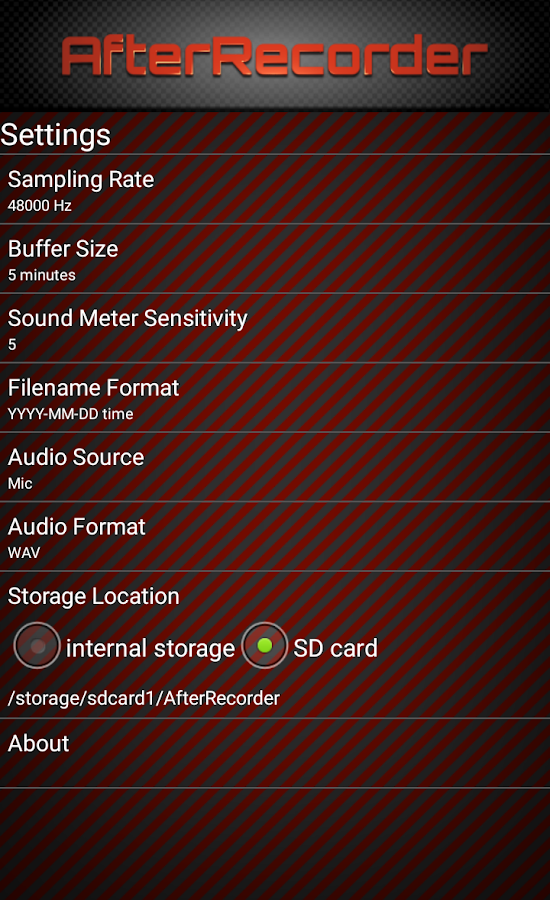 AfterRecorder - Audio Recorder- screenshot