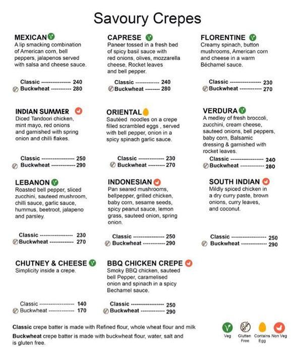 Dcrepes Cafe menu 13