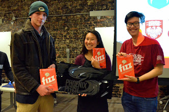 Photo: Photo credit: Liana Sonenclar  Our 3 Fizz book raffle winners, courtesy of UCIE!