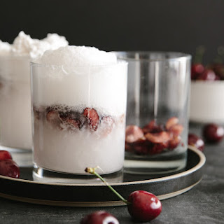 Spiked Coconut Cherry Float.