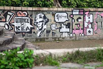 Photo: 2008 Taiwanese Graffiti from a back street in Taipei for #StreetArtSunday by Bounce, KEA, and ANO  +Luís Pedro +Mark Seymour   #graffiti #Taiwan #Taipei #planetoftheapes #streetart