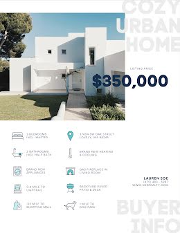 Cozy Urban Home - Real Estate Flyer item