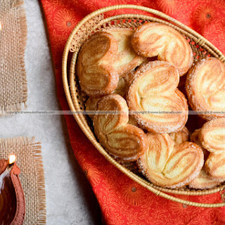 Sweet Palmiers, Puff Pastry Cookies Recipe