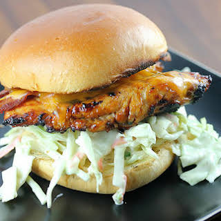 Grilled Chicken and Coleslaw Sandwich.