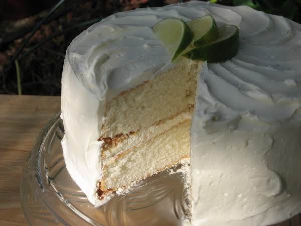 White Butter Cake With A Traditional Butter Cream Frosting. Can't Be Beat!