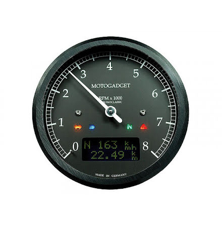 motogadget motogadget chronoclassic rev counter dark edition -8.000 RPM