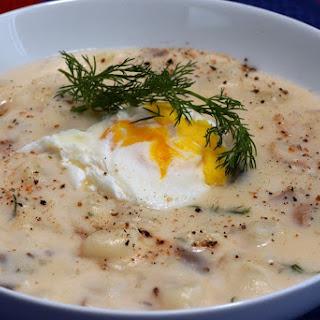 Czech Republic 'Kulajda' (A mushroom and potato soup).
