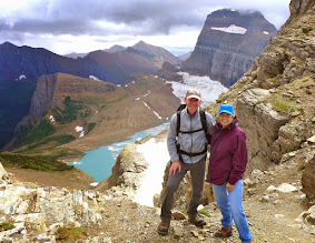 Photo: The Grinnell Glacier overlook on the Continental Divide.