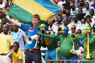Photo: Amavubi fans give a rapturous welcome before the game [Rwanda Vs Ghana AFCON2017 Qualifier, 5 Sep 2015 in Kigali, Rwanda.  Photo © Darren McKinstry 2015]