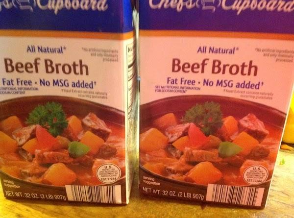 Add beef broth.