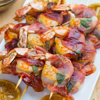 Prosciutto Wrapped Shrimp