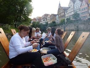 Photo: Jungeselleninnenabschied mit Grillen ... unterhalb der Neckarbrücke.
