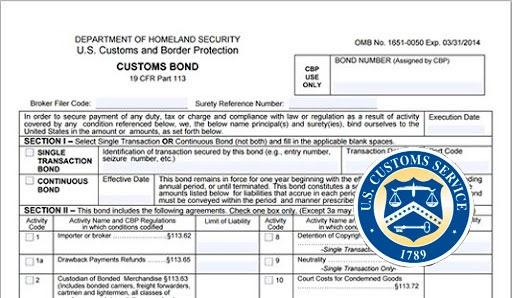 Таможенная облигация - customs bond