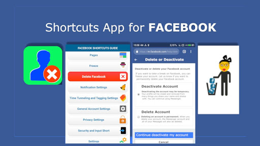Account Shortcuts - Delete Guide for Facebook 1.9.7 Up. screenshots 6