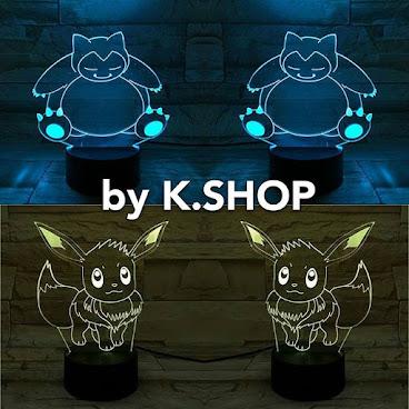 新款LED 3D燈 1⃣ 卡比獸  2⃣ 伊貝