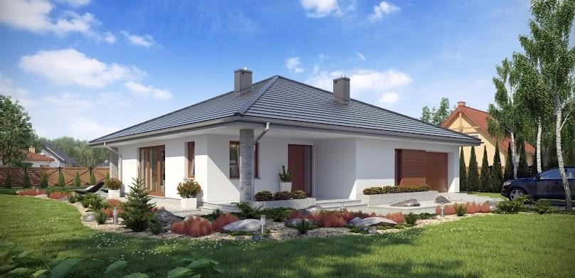 Dach czterospadowy nazywany kopertowym