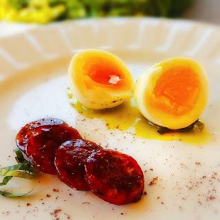 Hoisin Kielbasa + 7 Minute Egg
