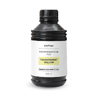 CLEARANCE - Zortrax Inkspire Transparent Yellow Photopolymer Resin - FLEXIBLE - 500ml