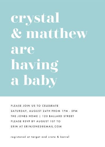 Crystal's Baby Shower - Baby Shower Invitation Template