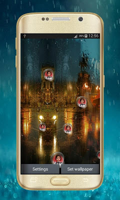 Photo Rain Drop Live Wallpaper - screenshot