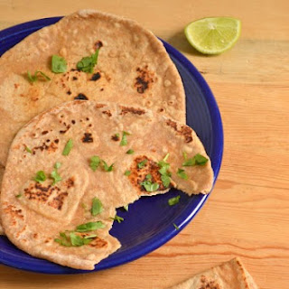 100% Whole Wheat 5 Minute Naan.