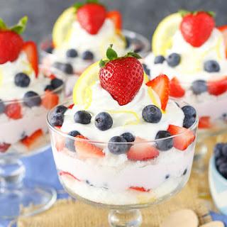 Lemon Berry Yogurt Trifles