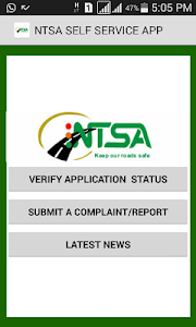 NTSA  APP screenshot 0