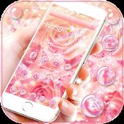 Pink Rose Diamond Theme Wallpaper