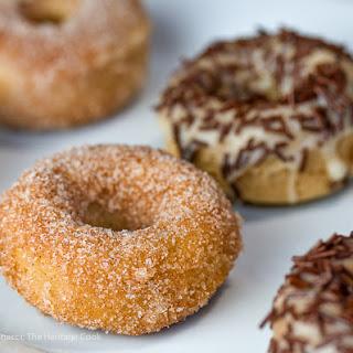 Gluten Free Mini Baked Vanilla Bean Doughnuts