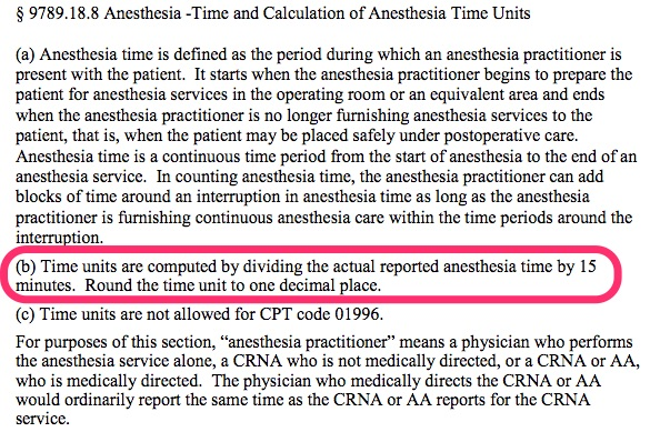 Anesthesia - Time and Calculation of Anesthesia Time Units