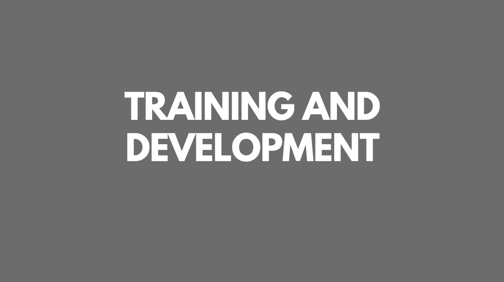 Leadership and Workforce Training and Development