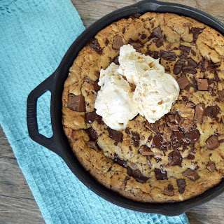 Lady's Chocolate Chip Skillet Cookie.