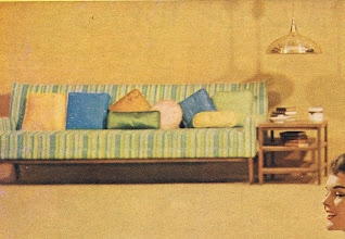 Photo: Typical modern style sofa, with lots of pillows in various shapes and colors