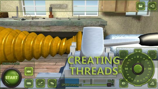 Lathe Machine 3D: Milling & Turning Simulator Game  Apk Download For Android and Iphone 4