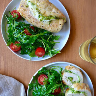 Cheesy Chicken Roulades with Pesto