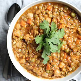 Lentil and Chickpea Curry with Coconut Milk.