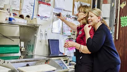 Jennifer Daurora with her mom, Bonnie McGinnis Vello, Business Owners
