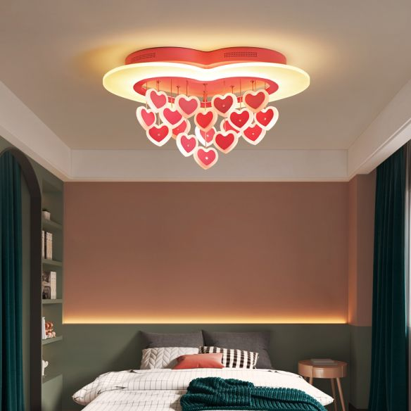 Heart Led Ceiling makes Your Bedroom More Romantic