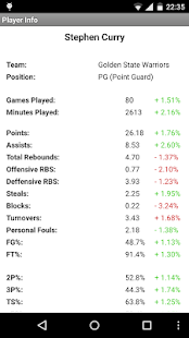 Stats Analyzer for NBA- screenshot thumbnail