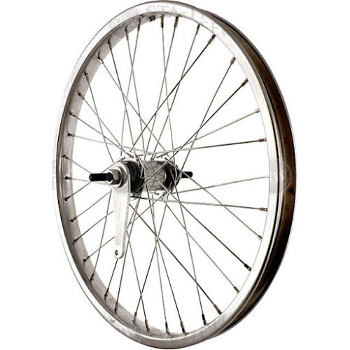 Sta-Tru 20 inch Silver Coaster Brake Steel Rim with Solid Thread on Axle