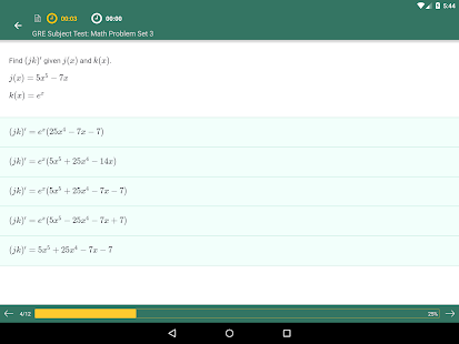 GRE Subject Test Math Practice- screenshot thumbnail
