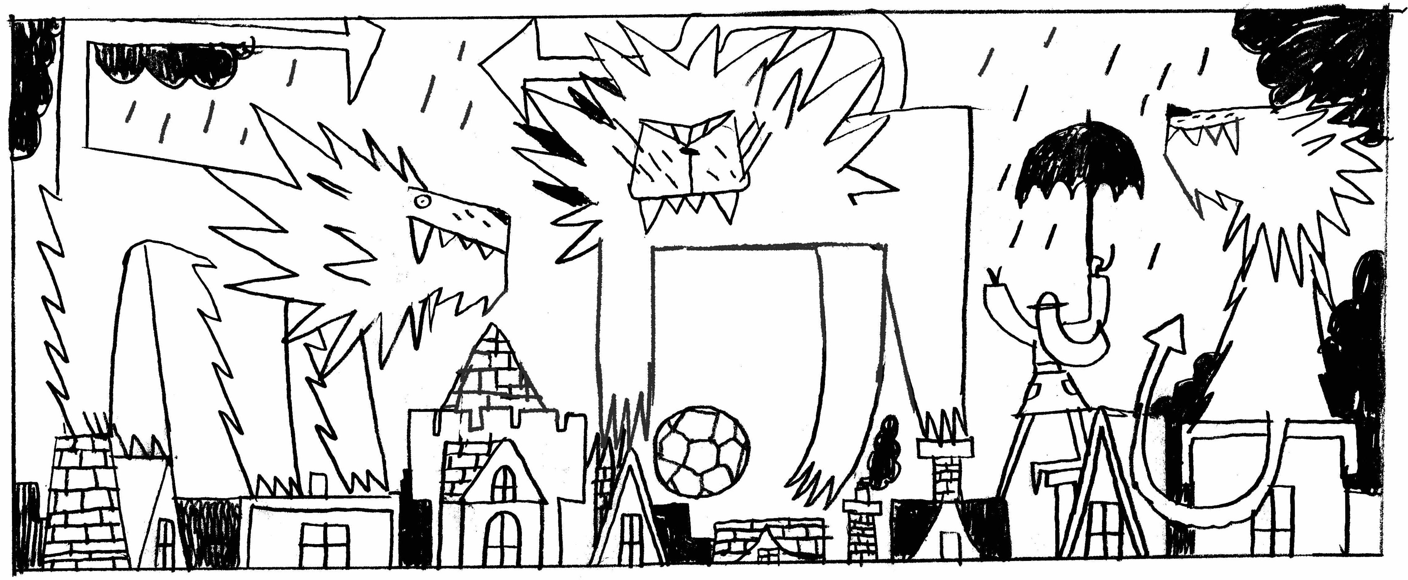 England World Cup Doodle Sketch
