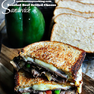 Roasted Beef Grilled Cheese Sandwich.
